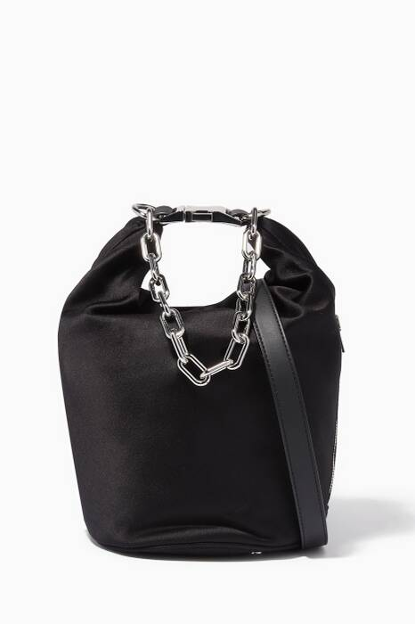 Black Attica Dry Sack Bucket Bag