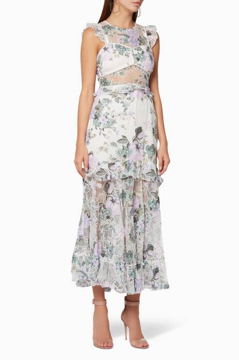 Lavender Floral-Print Oh So Lovely Dress