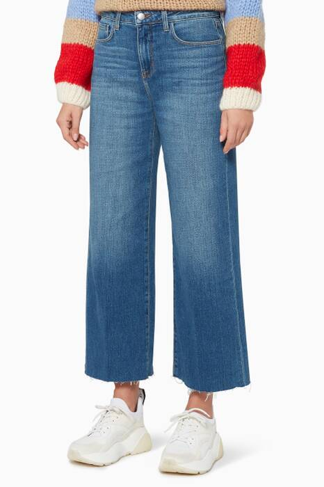 Dark-Blue Danica Wide-Leg Jeans