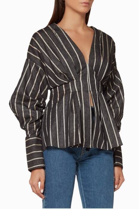 Navy-Stripe Moments Apart Top