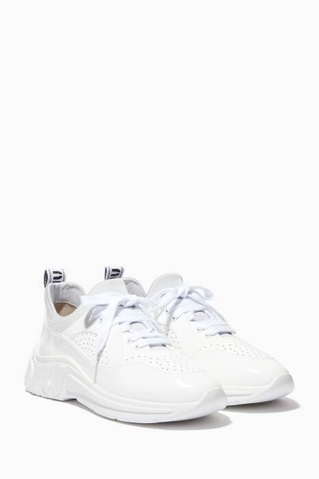 White Run Patent Leather Sneakers