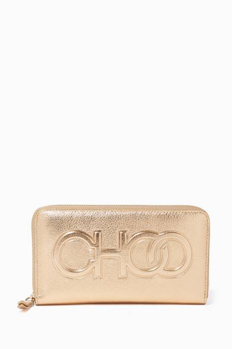 Gold Bettina Large Zip-Around Wallet