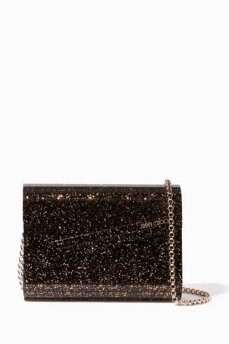 Black & Gold Candy Glitter Clutch