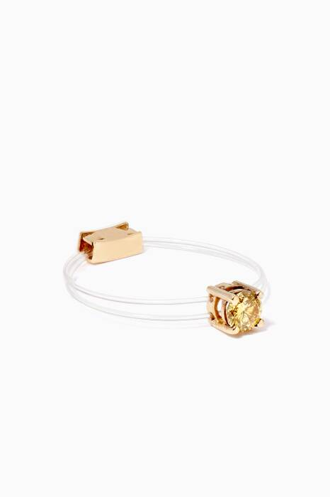 Yellow-Gold & Diamond Sparkly Me Floating Ring