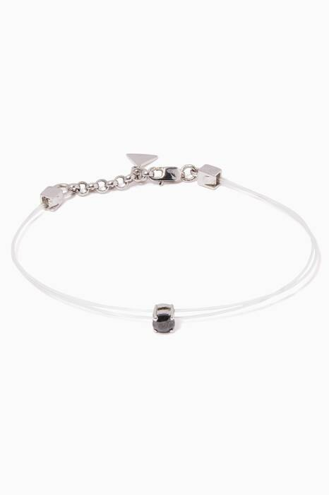 White-Gold & Diamond Sparkly Me Floating Bracelet