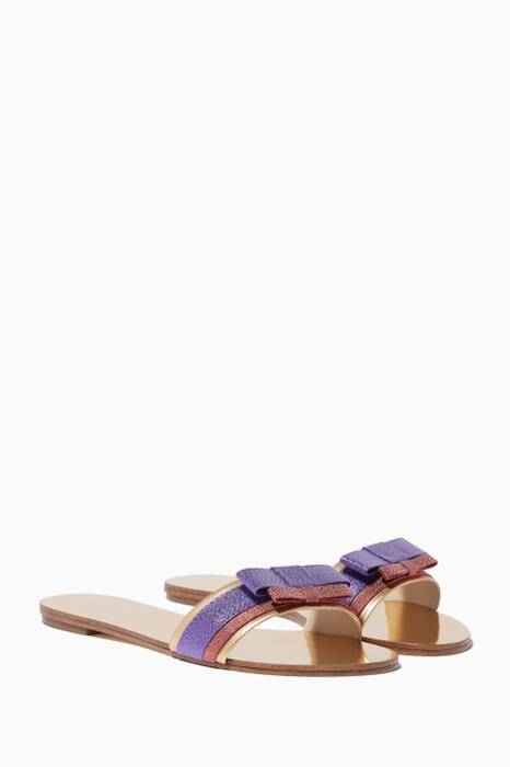 Multi-Coloured Andie Bow Slides