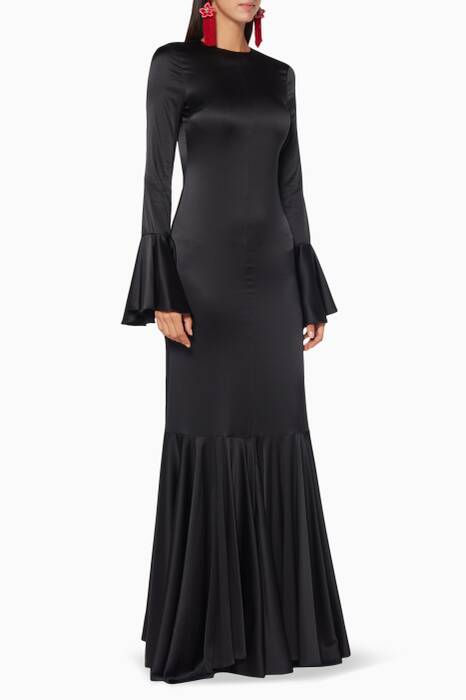 Black Silk Allonia Gown