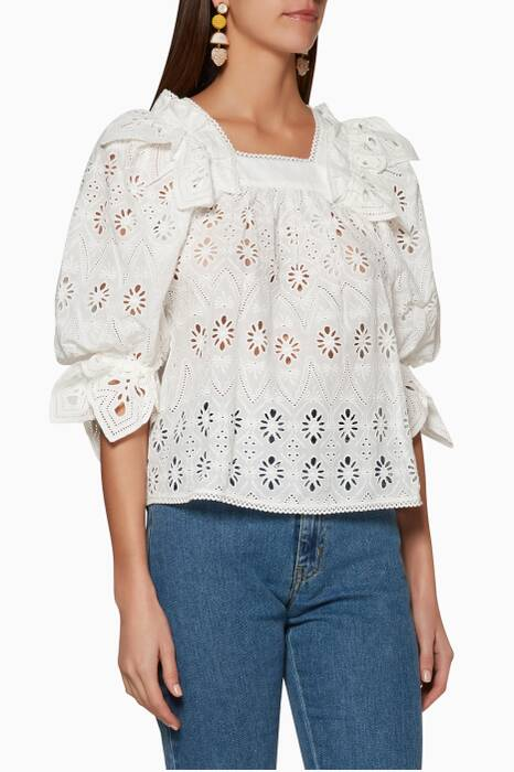 White Lace Viola Top