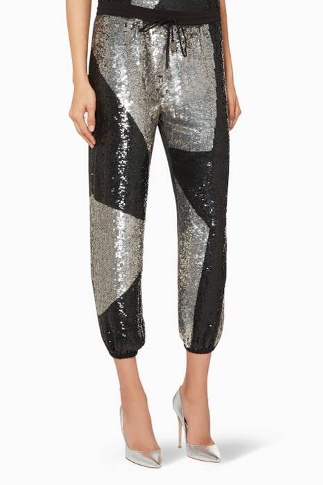 Silver & Black Embellished Stacia Pants