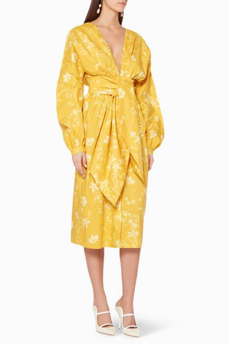 Yellow San Bernardo Del Viento Dress