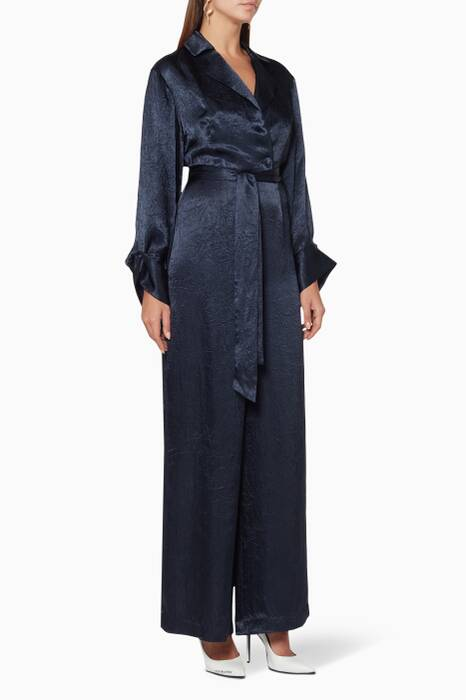 Navy Be Here Now Jumpsuit