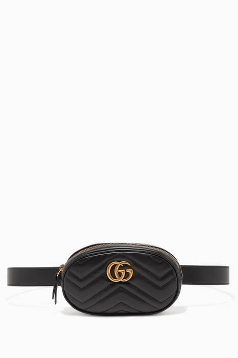 Black Marmont Matelassé Leather Belt Bag