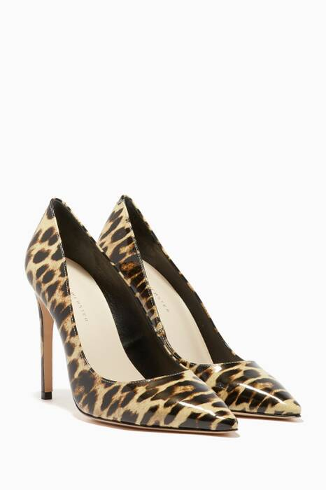 Multi-Coloured Leopard-Print Rio Patent Pumps