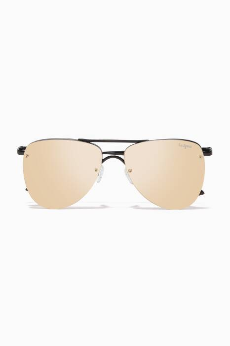 Gold The Prince Aviator Sunglasses
