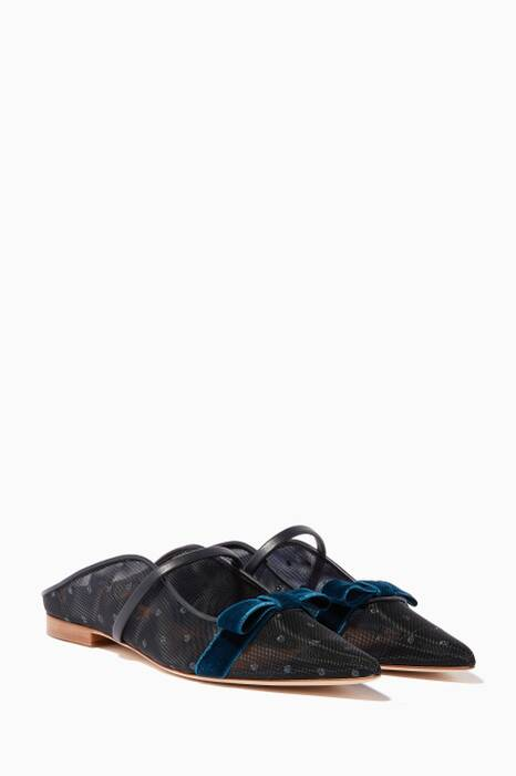 Midnight-Blue Marguerite Luwolt Mules
