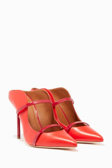 Red Maureen Luwolt Leather Mules