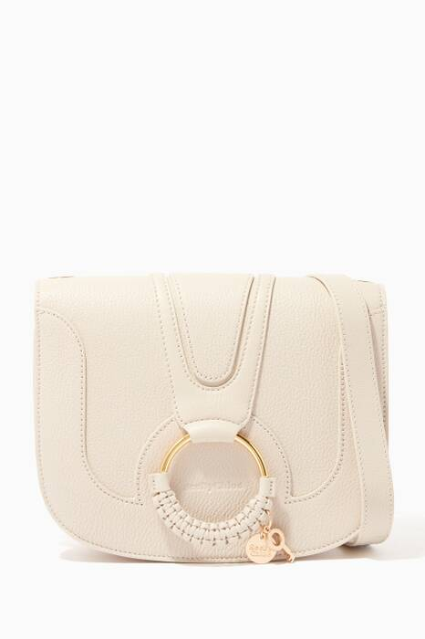 Cement-Beige Medium Hana Shoulder Bag