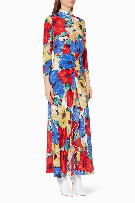 Multi-Coloured Diana Floral Lucy Dress