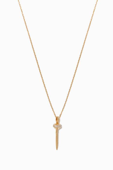 Gold Mini Nail Necklace