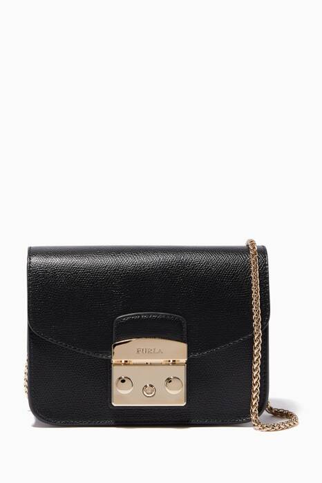 Onyx-Black Metropolis Cross-Body Bag