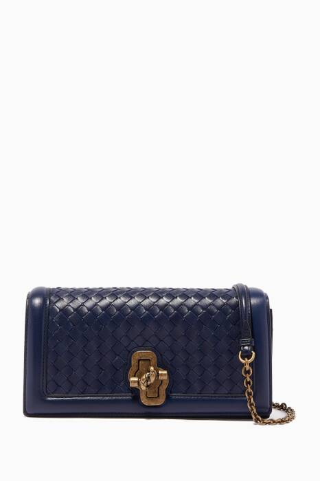 Atlantic Intrecciato Knot Clutch Bag