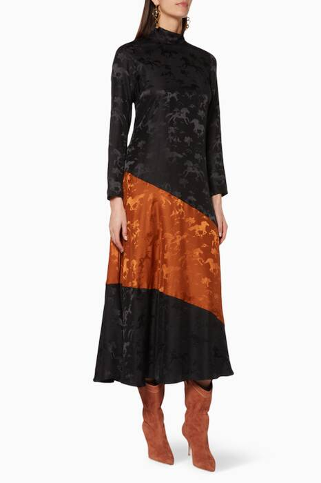 Black & Caramel Ackerly Dress