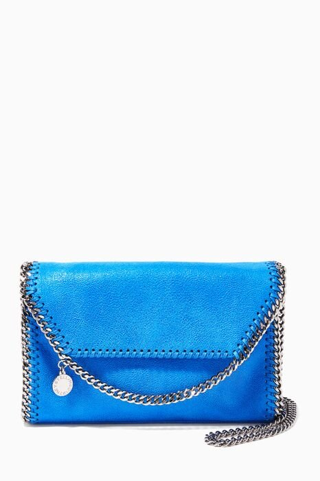 Blue Falabella Shaggy Deer Mini Shoulder Bag