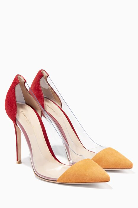 Plexi Red Suede Pump