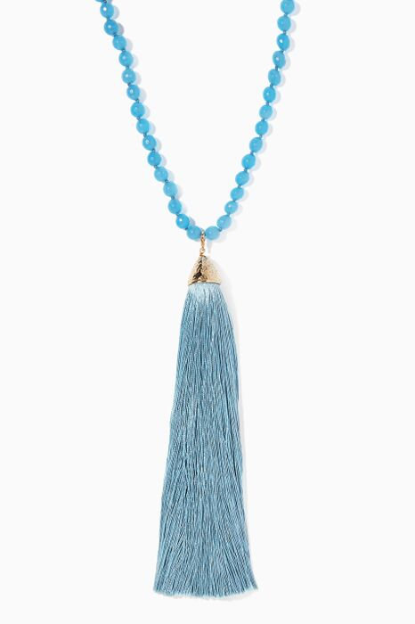 Blue Platea Quartz Necklace