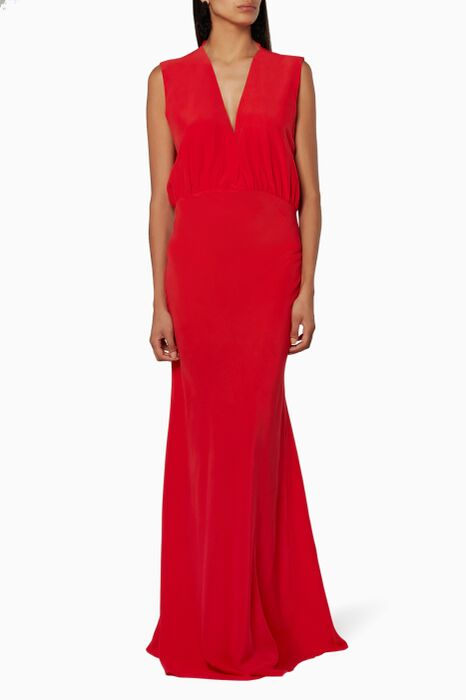 Red Audrey Evening Dress