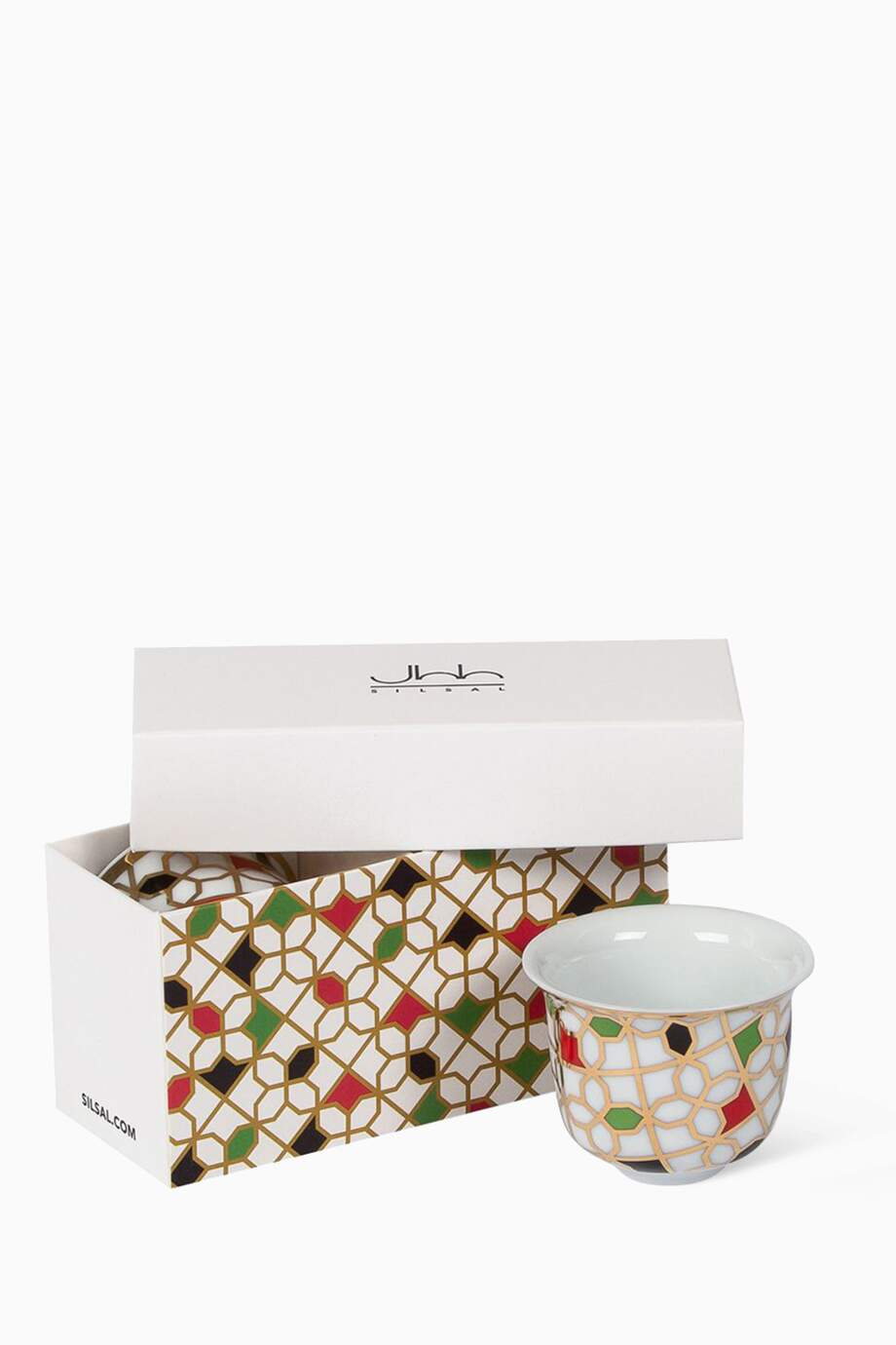 Shop Silsal Multicolour Unity Arabic Coffee Cup Gift Box Set Of 2 For Women Ounass Kuwait