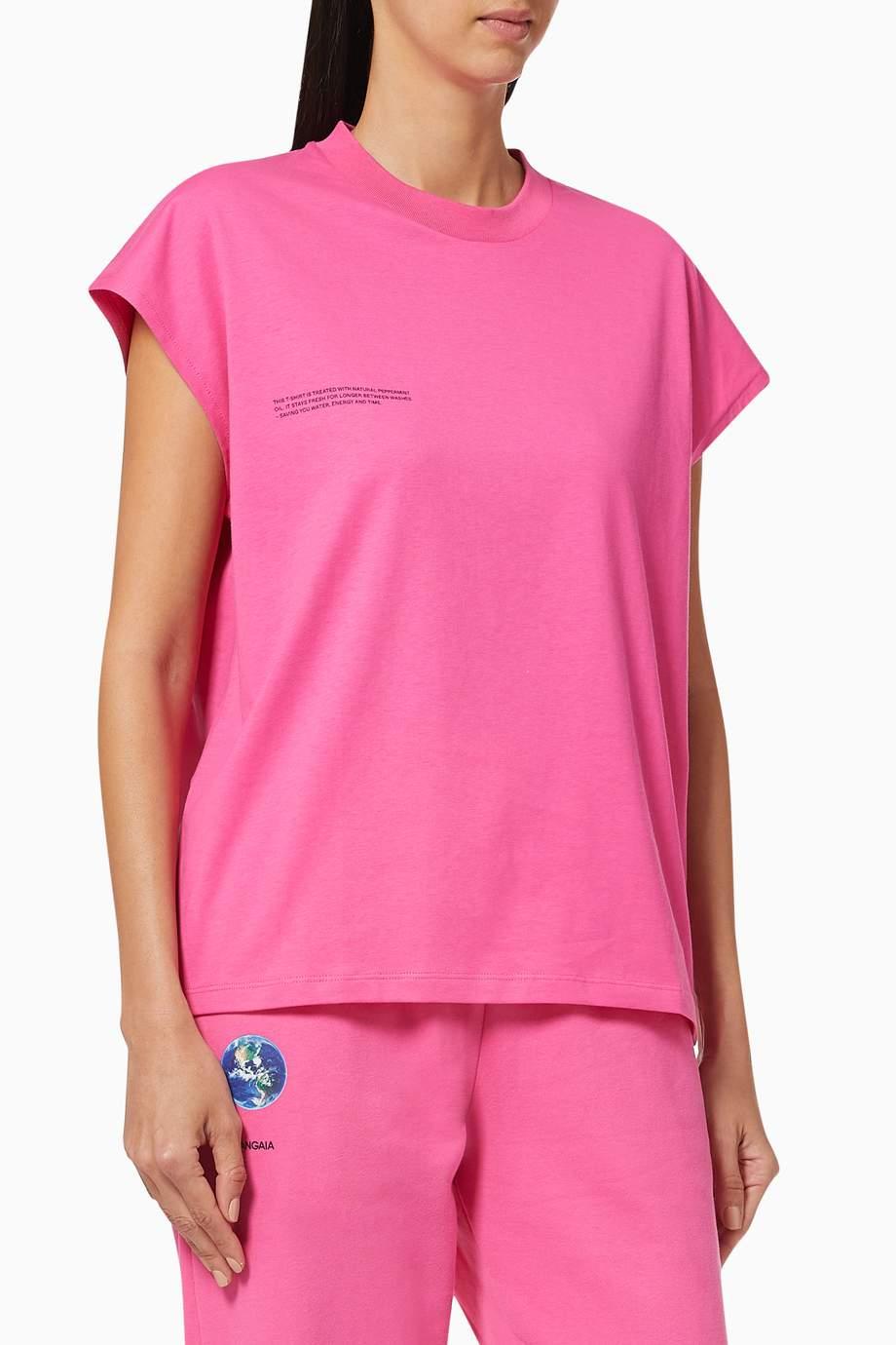 100/% COTTON BIO T-shirt Pink Flamingo