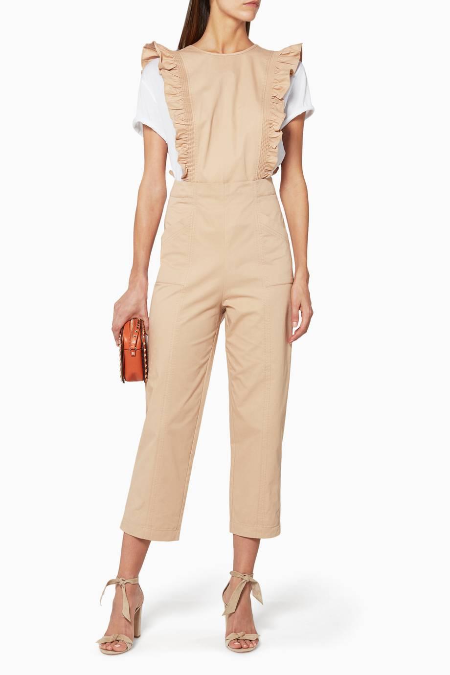 85282c66d1e Shop Luxury Ganni Beige Phillips Jumpsuit