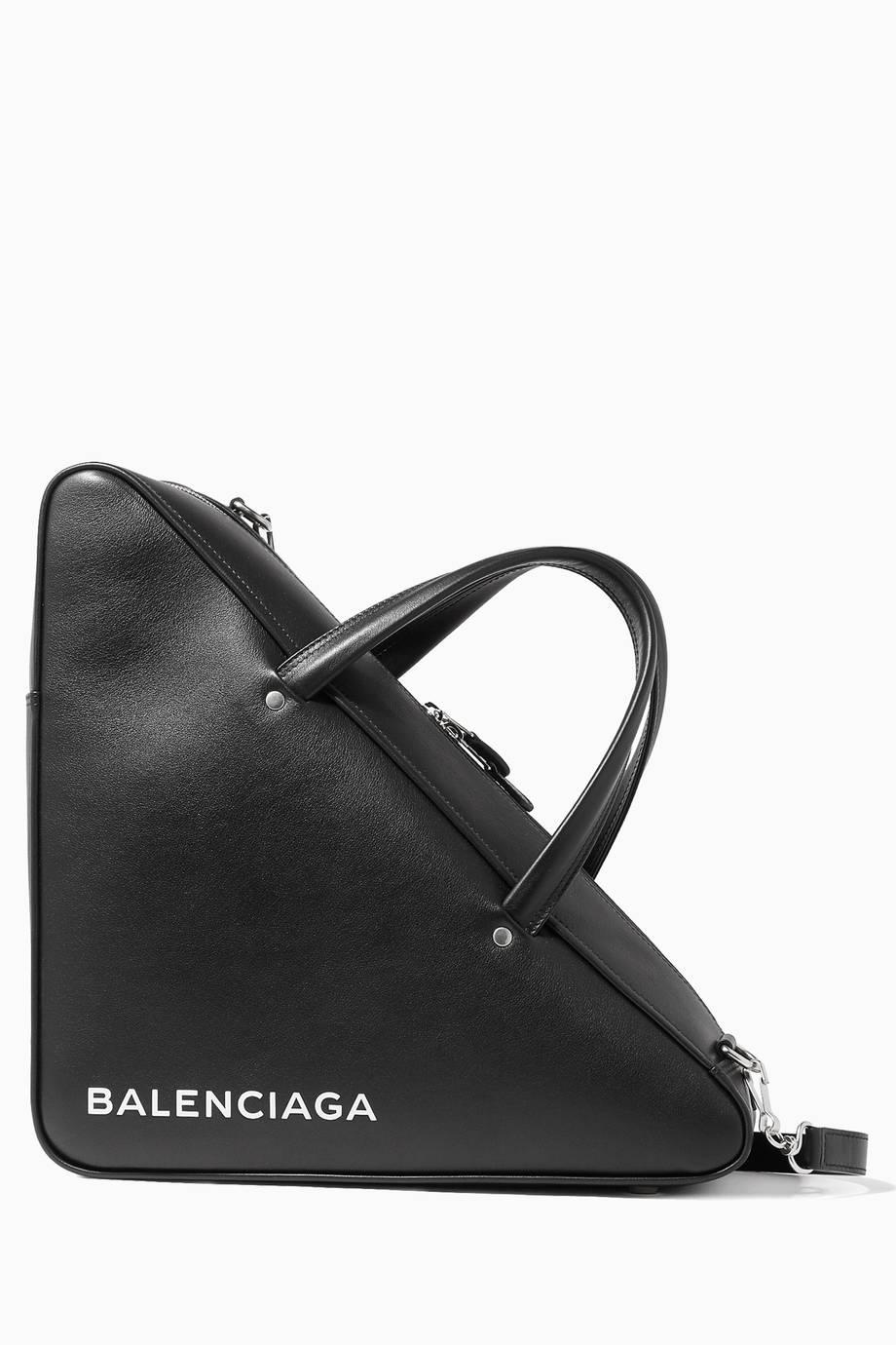 42e2fbc342 Shop Luxury Balenciaga Black Medium Triangle Duffle Bag
