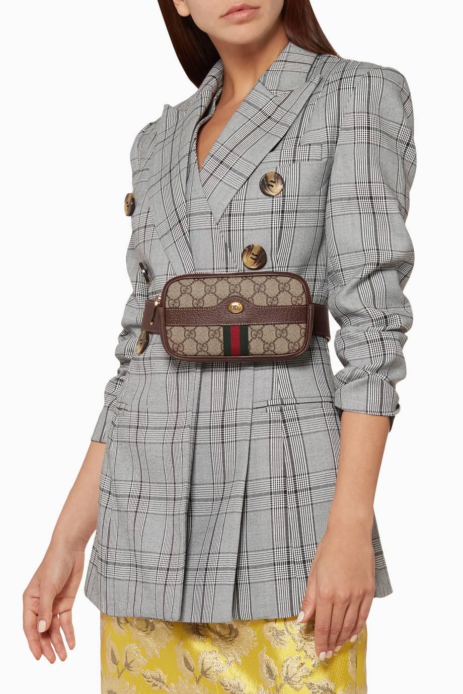 3b275b15aca Shop Luxury Gucci Beige Small Ophidia GG Supreme Belt Bag