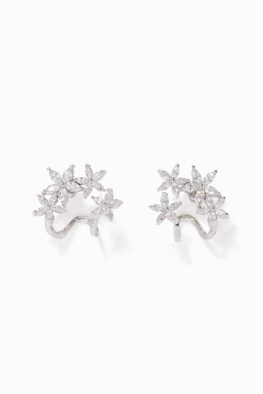 Fallon Double-Vine Cuff Earrings