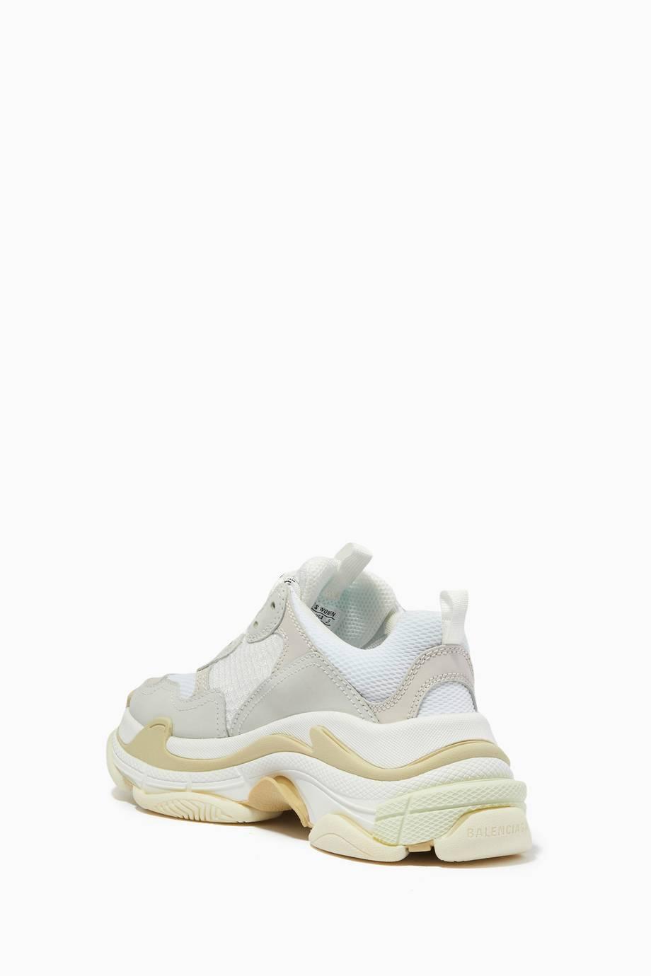 Shop Luxury Balenciaga White Triple S Sneakers