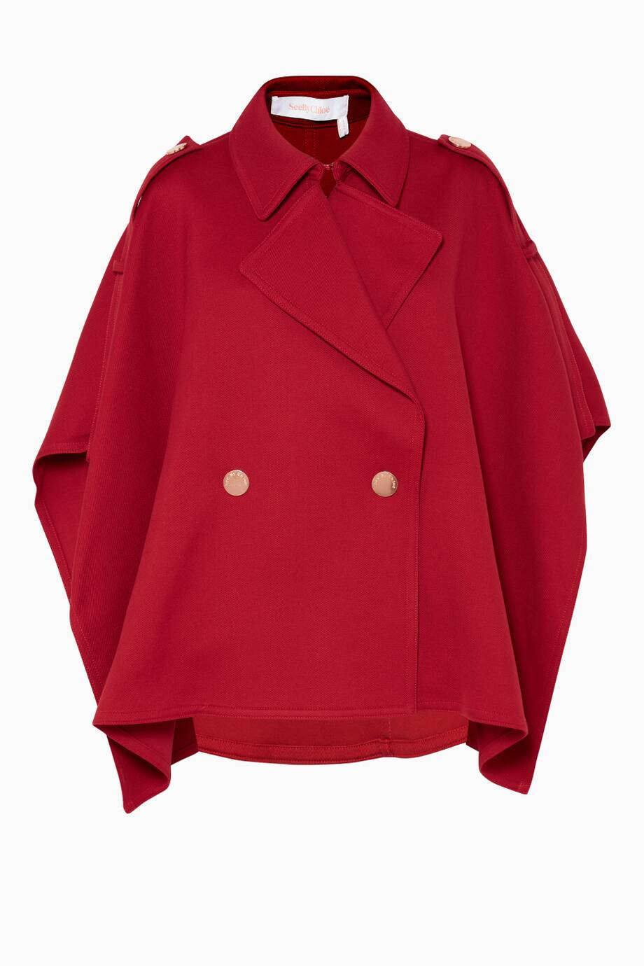 aff1048f36 Shop Luxury See By Chloé Dusky-Red Trench-Inspired Cape | Ounass KSA