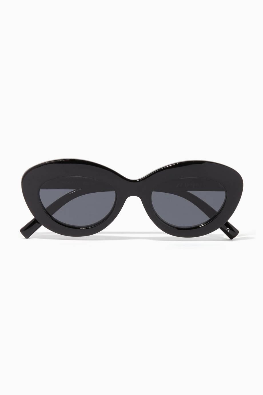 fbee7ca800 Shop Luxury Le Specs Black   Smoke Fluxus Sunglasses