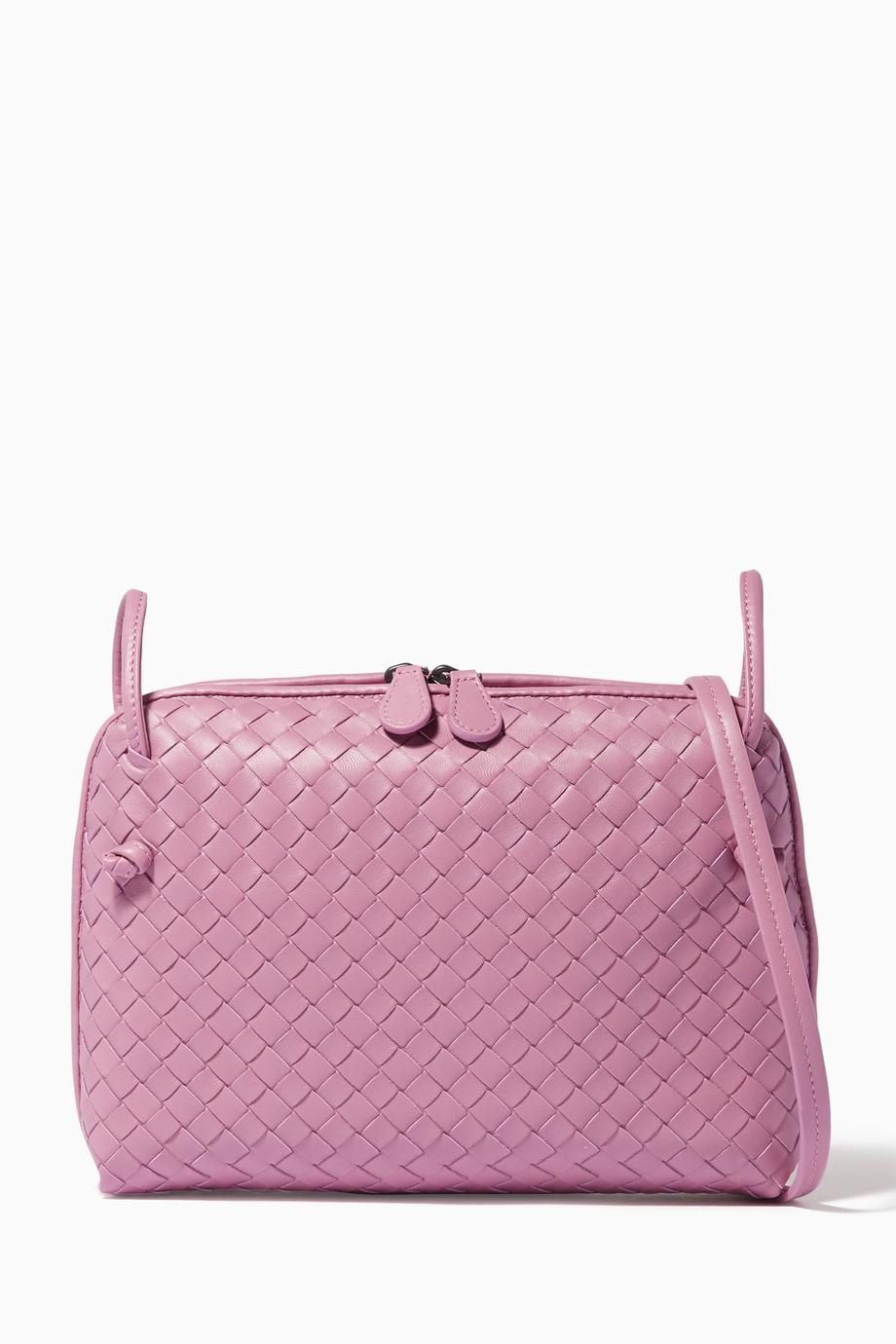 a0d98801aeb Shop Bottega Veneta Red Purple Double Zip Knot Messenger Bag for ...