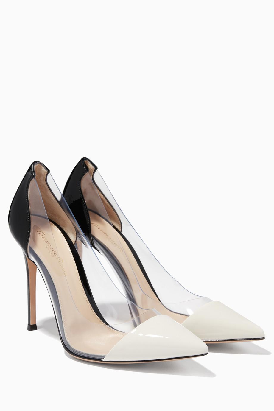 5c5a49e4d تسوق حذاء بلكسي خفيف أحادي اللون لامع جيانفيتو روسي ابيض للنساء ...