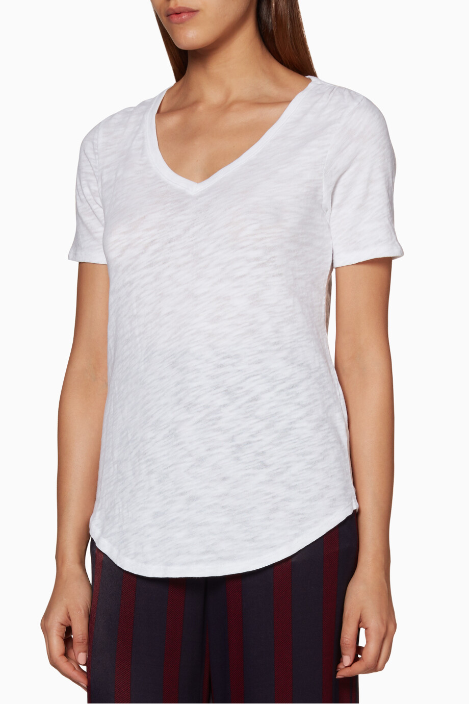 fd7d1799 Shop ATM White White V-Neck T-Shirt for Women | Ounass
