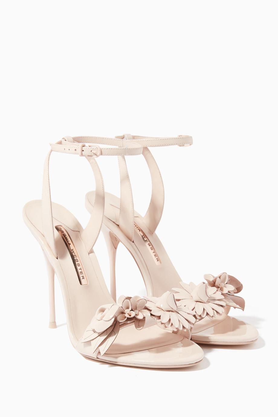 457a91d70914 Shop Sophia Webster Neutral Light-Beige Lilico Leather Sandals for Women