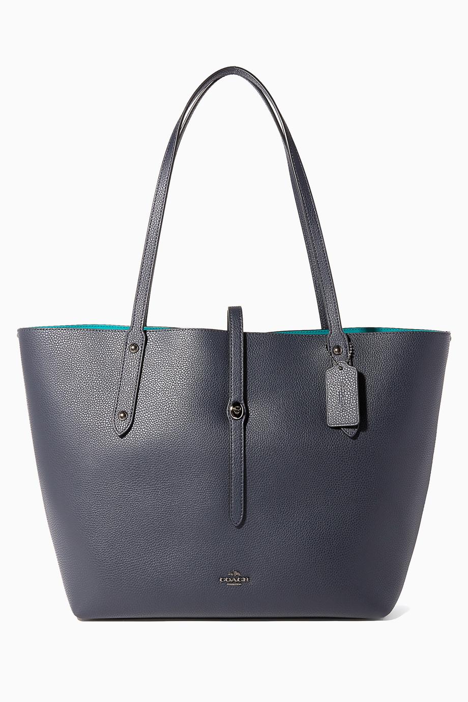 Shop Coach Blue Dark-Blue Market Tote for Women  27e7d842caa30