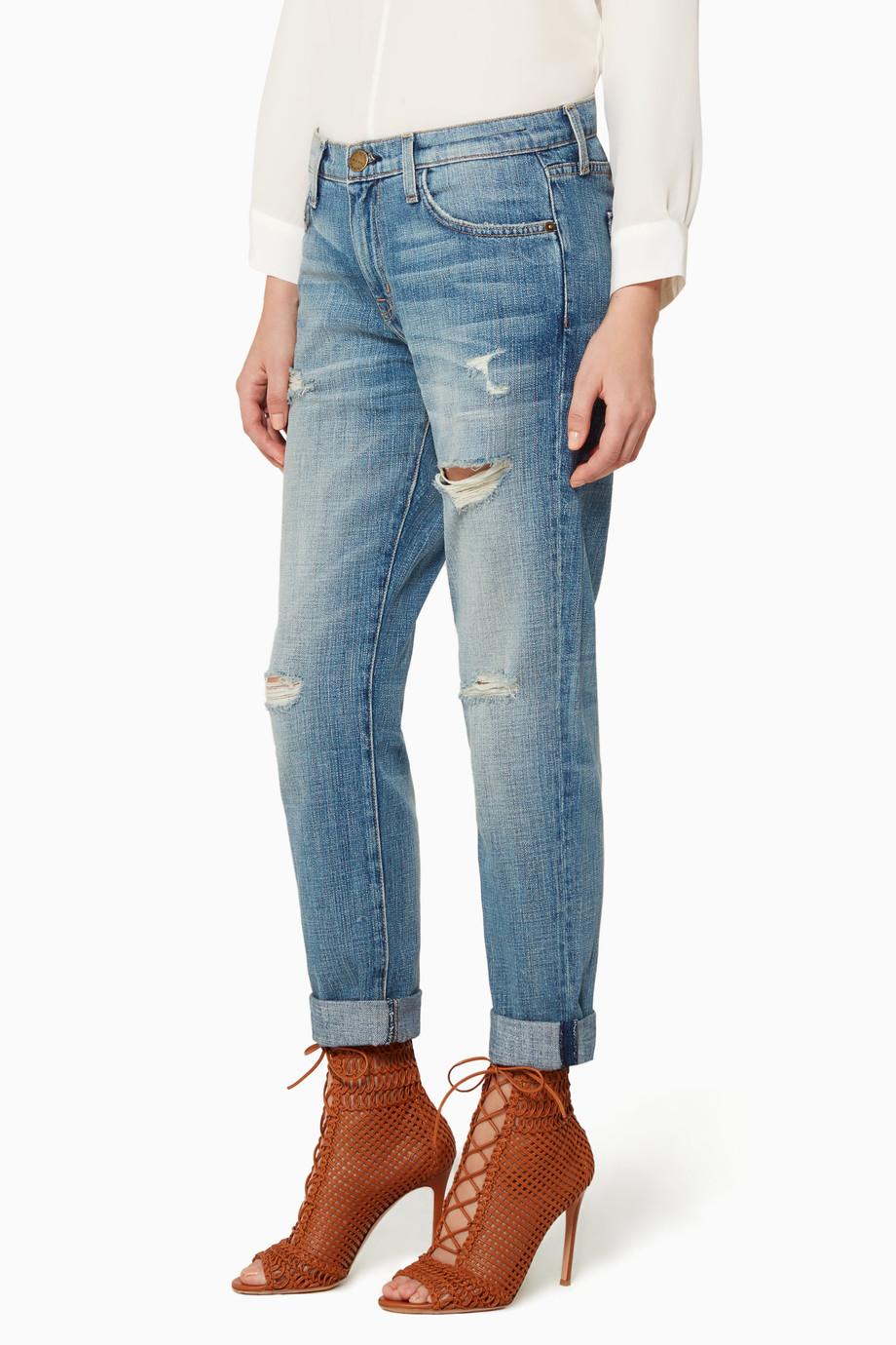 3c362a40612a4 تسوق بنطلون جينز ذا فلينج باللون الأزرق الفاتح Current Elliott أزرق ...