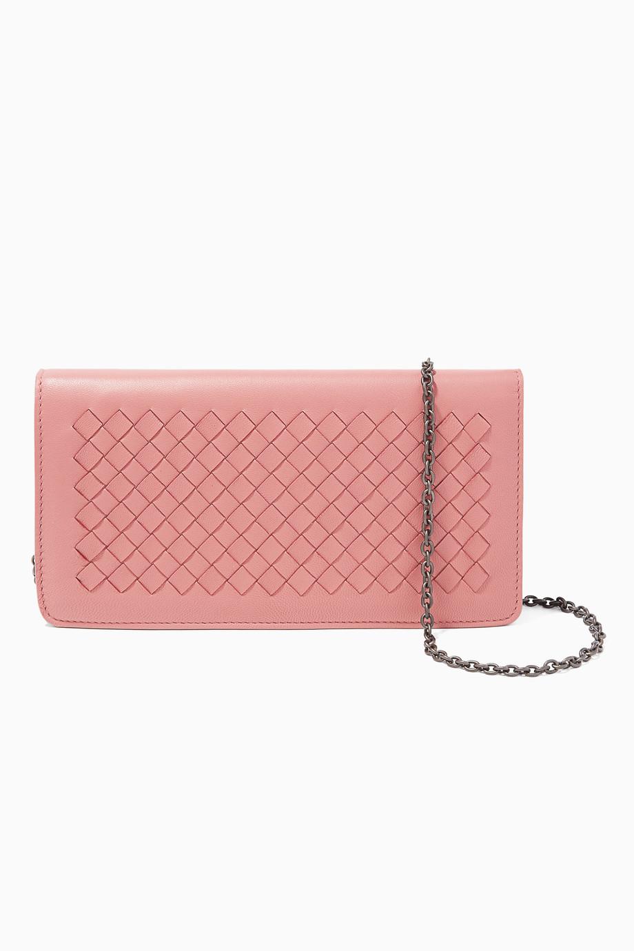 e9cb0aa36b5fb تسوق حقيبة محفظة ميني انترشياتو ذات اللون الوردي الباستيل الفاتح ...