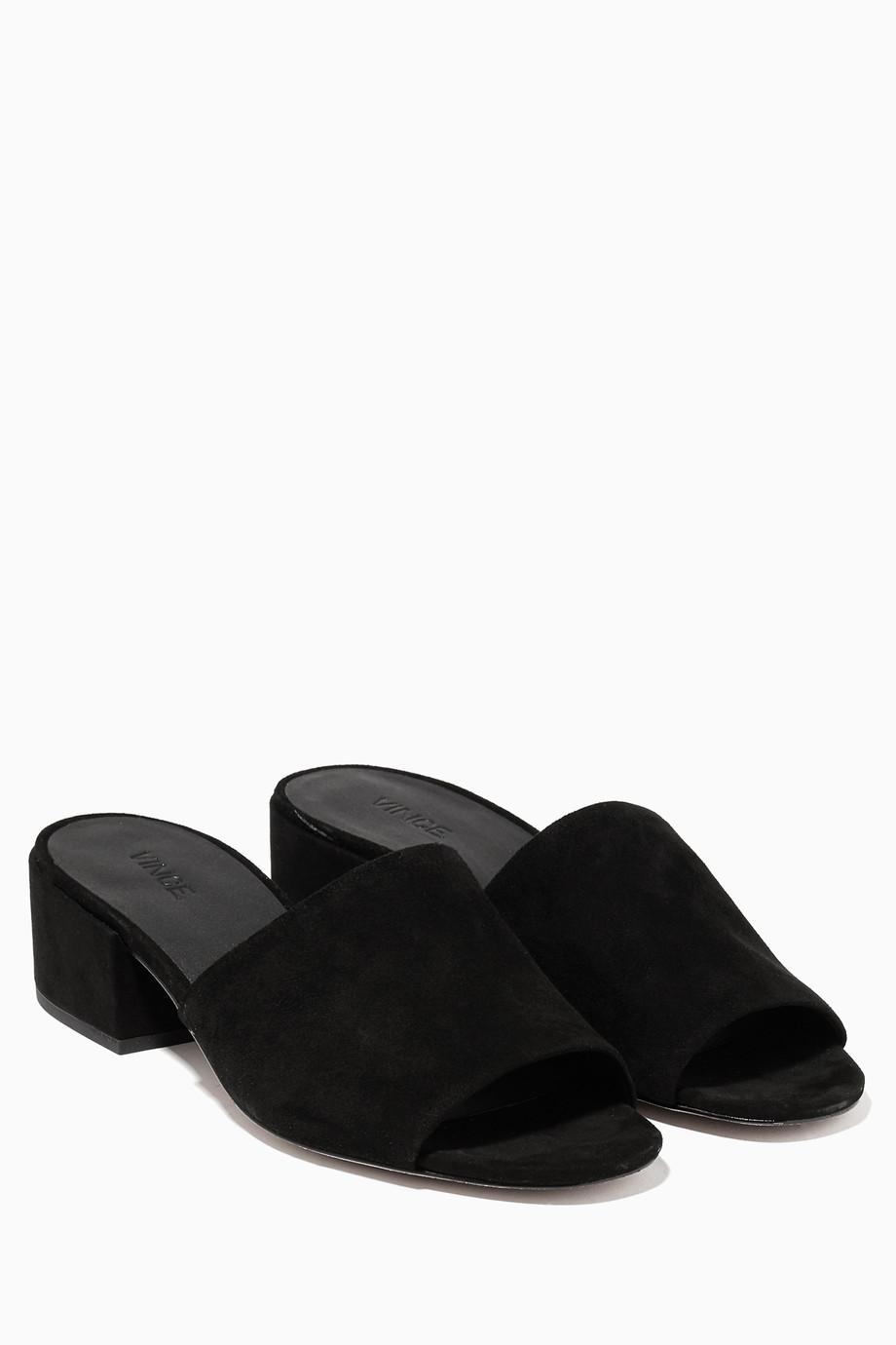 7098acc68ab Shop Vince Black Black Suede Rachelle Mules for Women