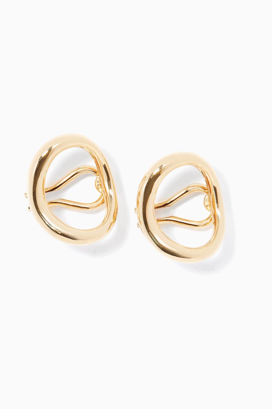 a211c16da Shop Charlotte Chesnais Gold Gold Naho Clip Earrings for Women ...