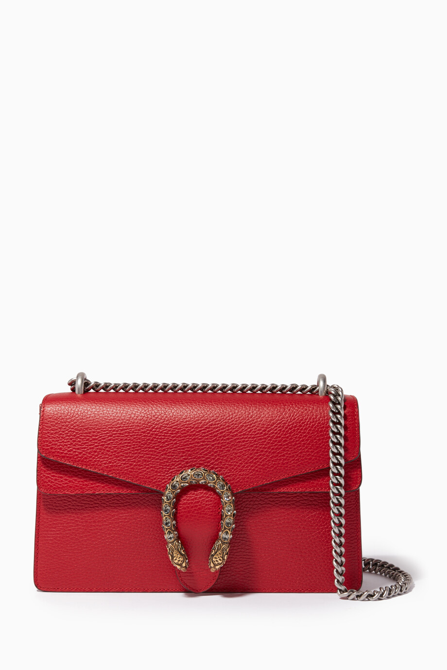 533426f1adfa Shop Gucci Red Red Dionysus Leather Shoulder Bag for Women | Ounass