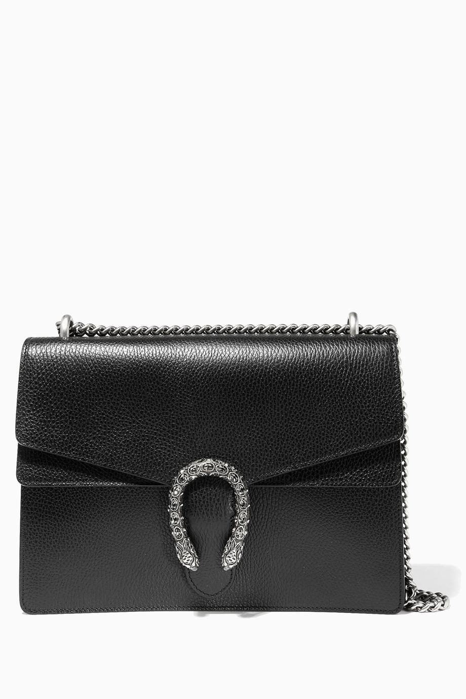 97b5f3bbab2e4 تسوق حقيبة الكتف الجلدية السوداء ديونيسوس Gucci ملون للنساء